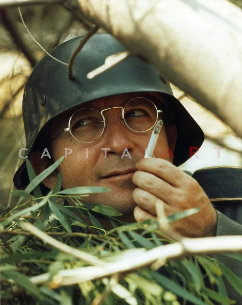Arte Johnson Age Arte Johnson Close Up Portrait With Cigarette Premium Art Print